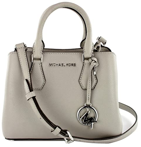 65e4f455db66 Michael Kors Camille Top Handle Messenger Bag Pebbled Leather Small Handbag  (Ash Grey) RRP