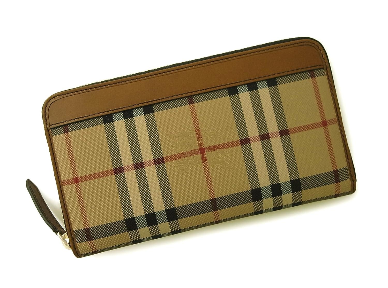 [バーバリー] 長財布 ラウンドファスナー ホースフェリーチェック ブラウン *大きめサイズ *箱傷あり BR-1127 [並行輸入品] B00WW81QEW