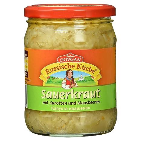 Dovgan Russische Küche Sauerkraut mit Karotten und Moosbeeren, 480 g ...