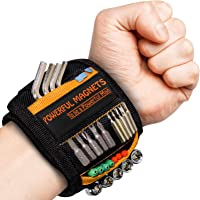 Tools For Men Magnetic Wristband, Gifts for Men Magnetic Tool Belt Super Strong Magnets Wrist Tool Holder with Powerful…