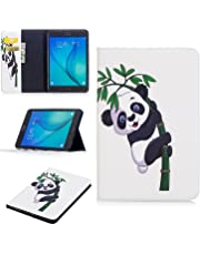 "Galaxy Tab A 8.0 2015 Case, SM-T350 Case, Dteck Protective Synthetic Leather Wallet Case with [Card Slots] Cute Flip Folio Stand Book Cover for Samsung Galaxy Tab A 8"" (SM-T350) Tablet-Bamboo Panda"