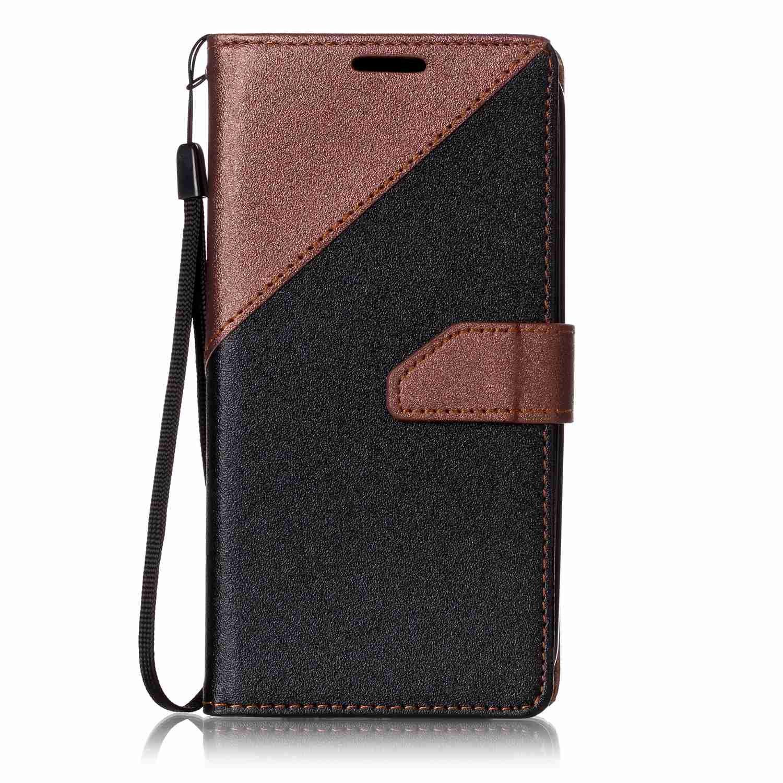 Cover LG K10 (2016 Versione), Lomogo Custodia Portafoglio in Pelle Porta Carta di Credito con Chiusura Magnetica per LG K10 (K420N) - YIXI24177 Zaffiro