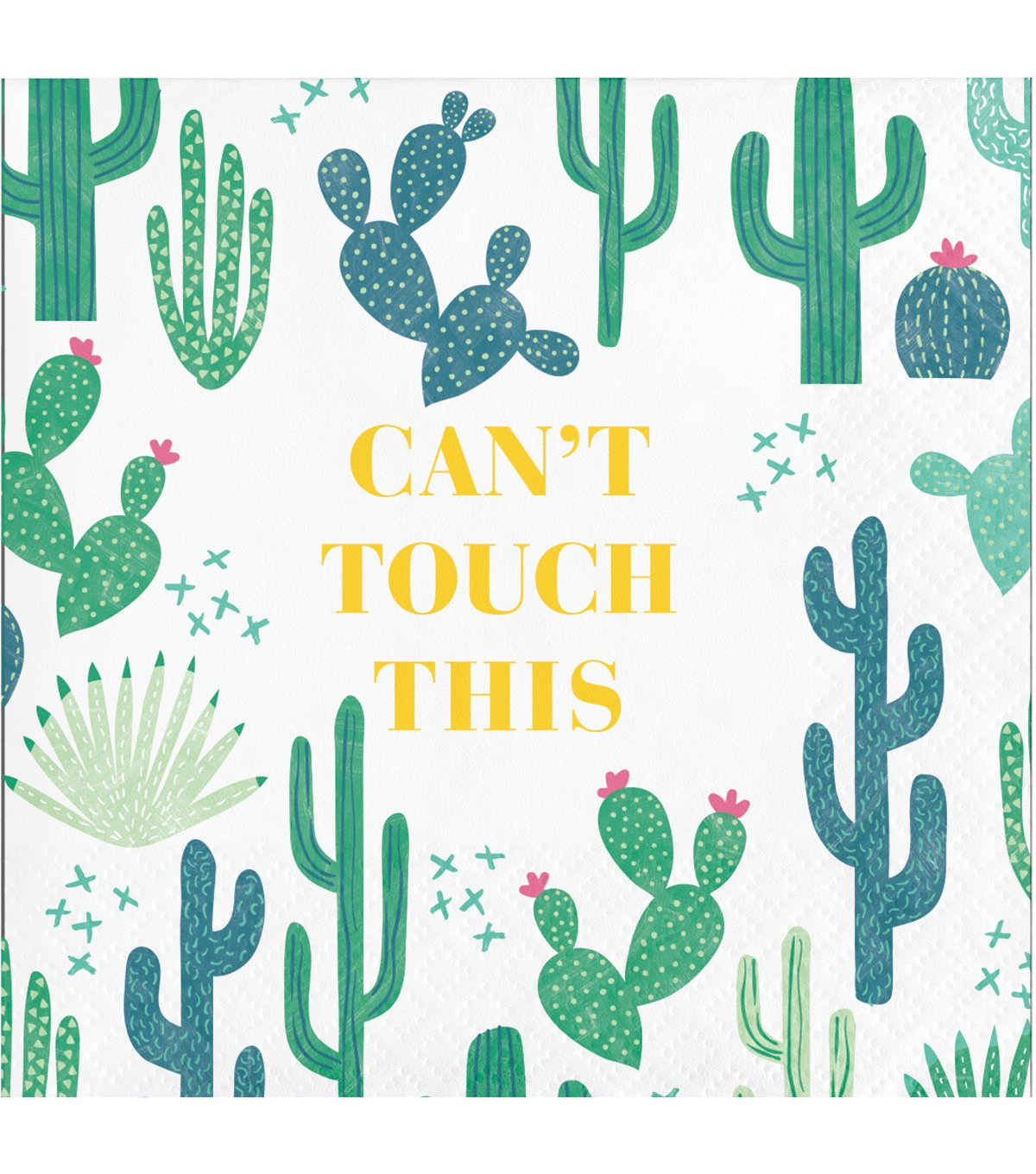 Cactus Can't Touch This Pack of 20 Paper Lunch Beverage Napkins Cacti by Jo-Ann