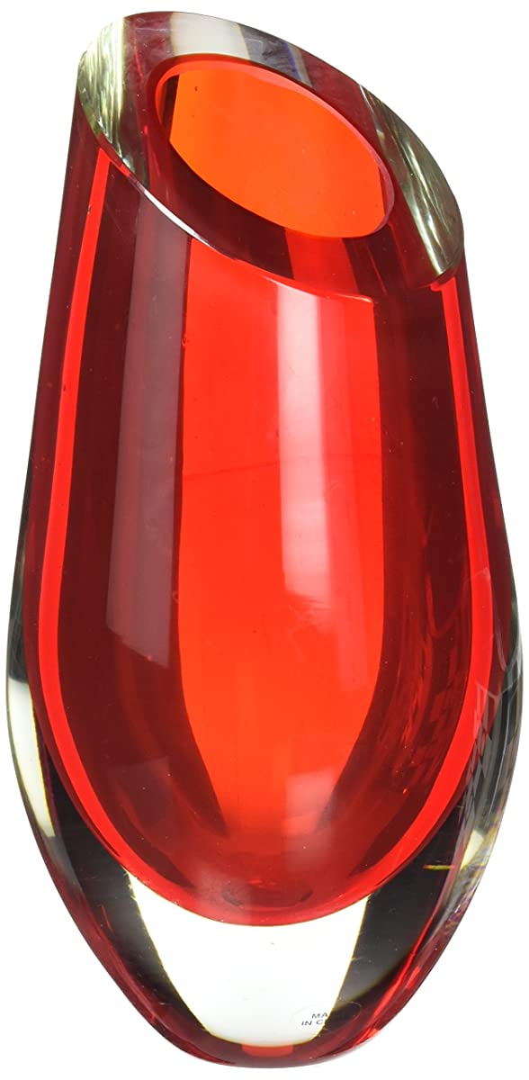 Zingz and Thingz Cut Glass Vase in Red