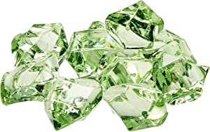 Firefly Imports Homeford 50-Piece Acrylic Crystal Ice Rocks Table Scatter, Apple Green, 1-Inch