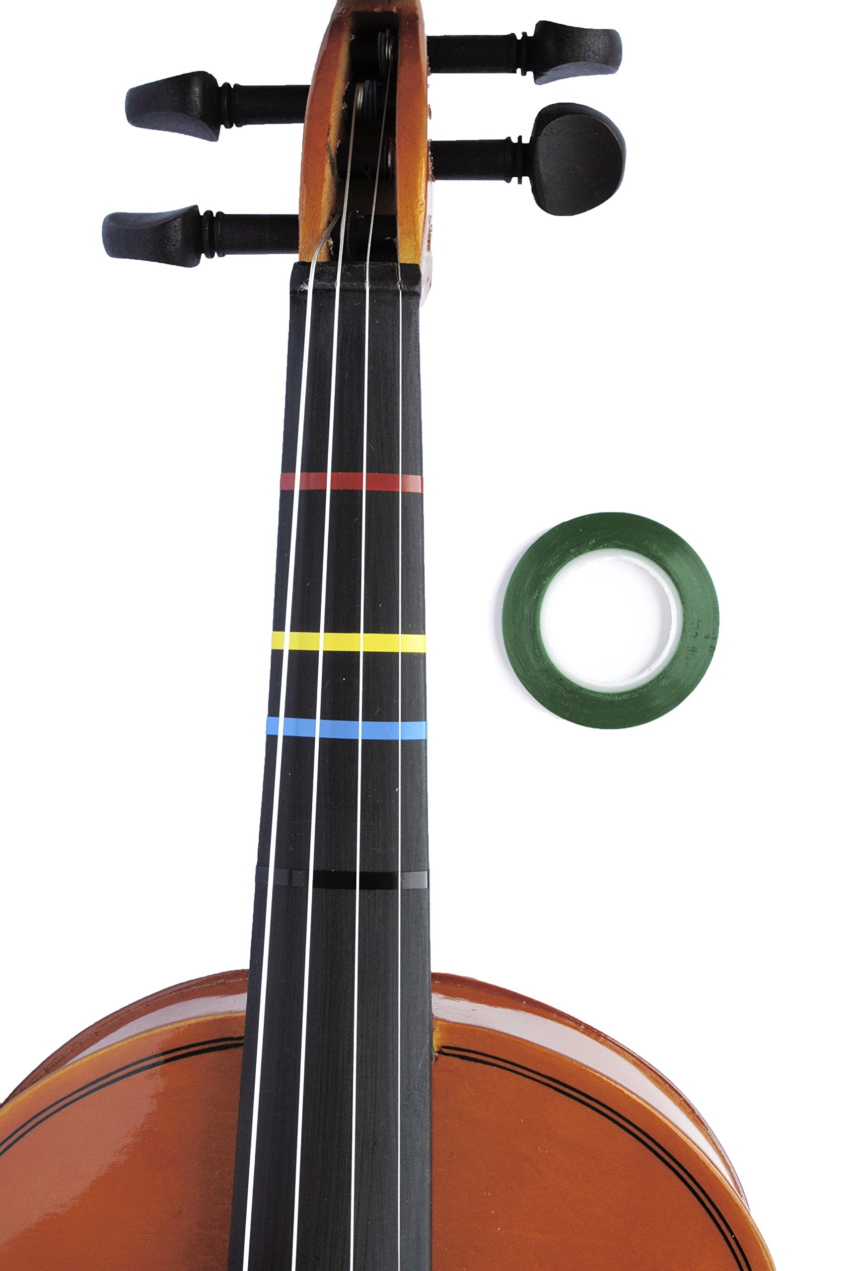Jumbo GREEN Color Violin Fingering Tape for Fretboard Note Positions