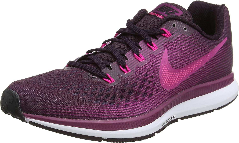Nike Women s Air Zoom Pegasus 34 Running Shoe Port Wine Deadly Pink-Tea Berry-Black 11.0