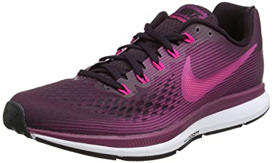77e1f12da70a Nike Women s Air Zoom Pegasus 34 Running Shoe Port Wine Deadly Pink-Tea  Berry