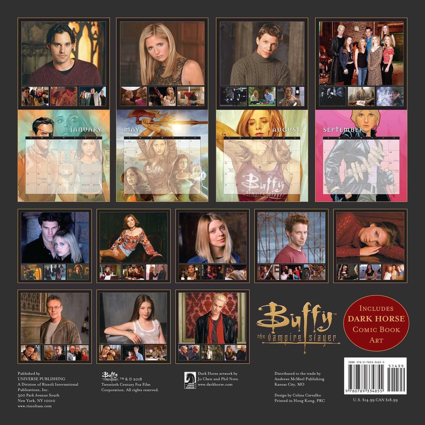 Buffy the Vampire Slayer 2019 Wall Calendar: 20th Century Fox:  9780789334855: Amazon.com: Books