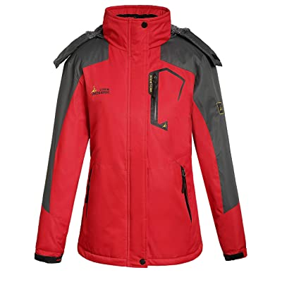 Camii Mia Women's Mountain Sports Windproof Waterproof Fleece Rain Jacket: Clothing