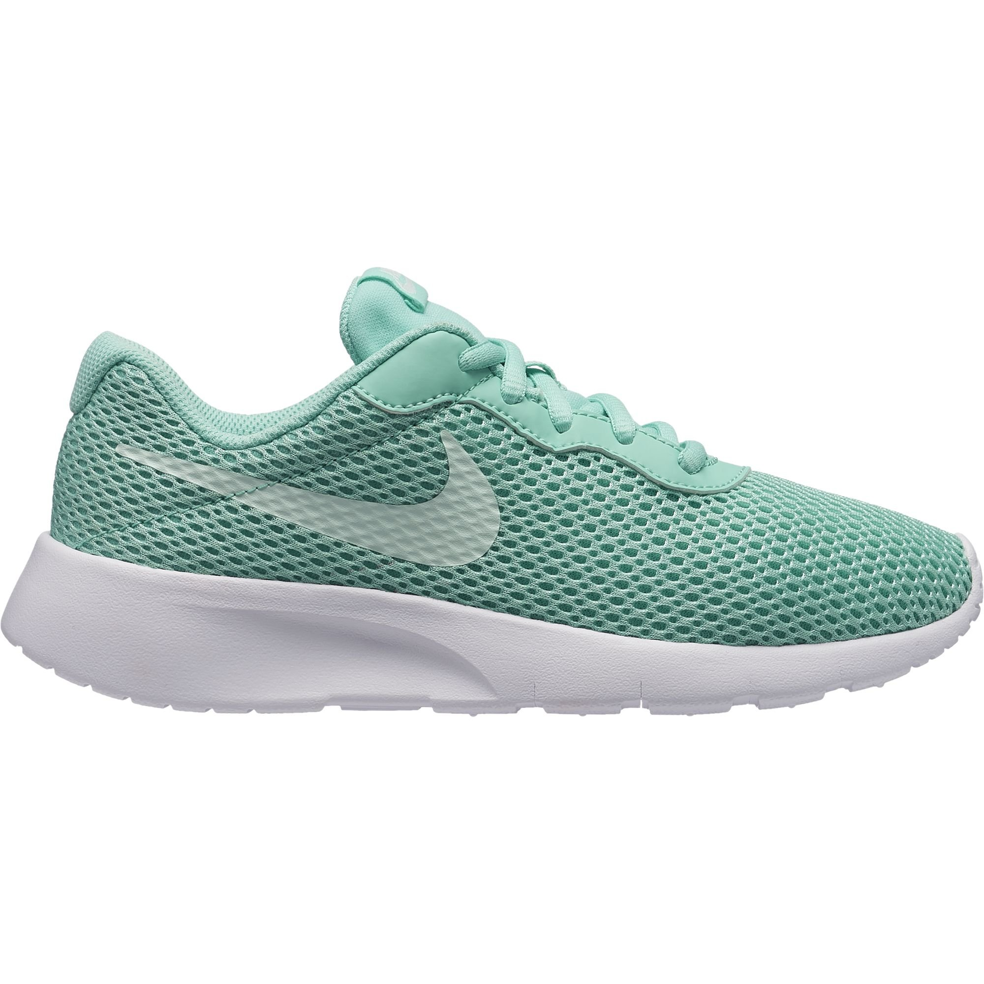 Nike Girl's Tanjun Shoe Emerald Rise/Igloo/White Size 4 M US