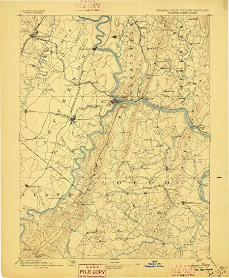 Harpers Ferry Virginia Map.Amazon Com Yellowmaps Harpers Ferry Va Topo Map 1 125000 Scale