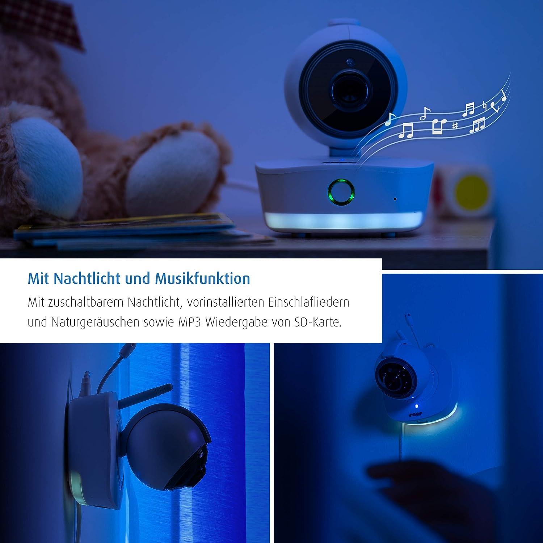 Video-Babyphone mit Tag- und Nachtmodus eco Mo Wiegenlieder Nachtlicht reer