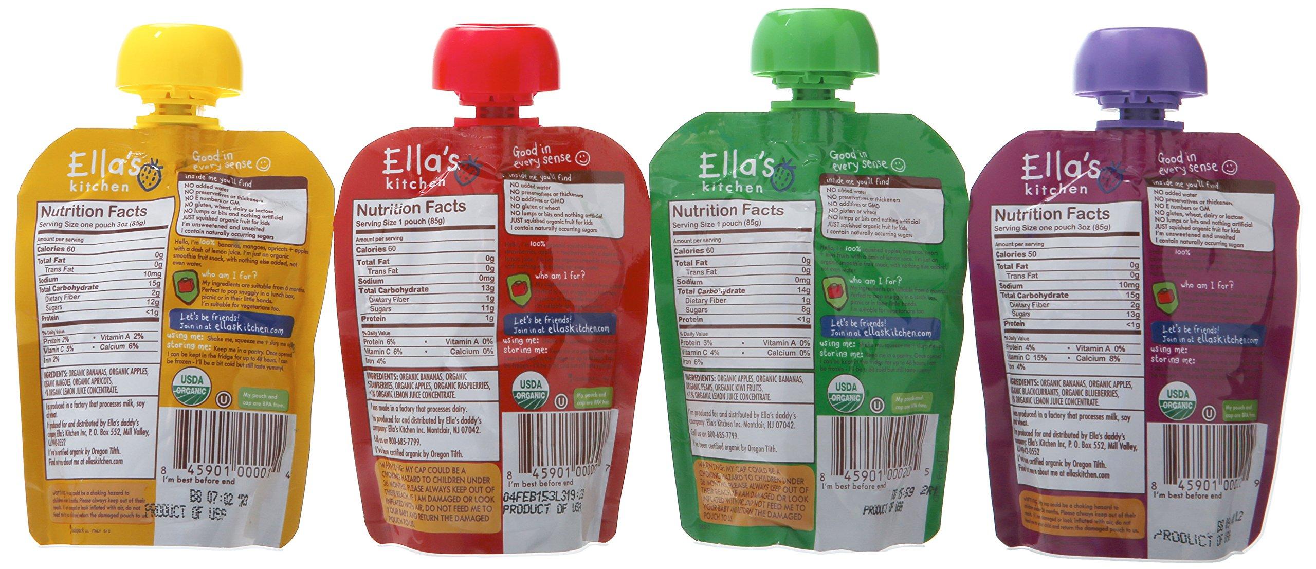 Ella's Kitchen Organic Smoothie Fruits 4 Flavor Variety Pack (8 Total Pouches) by Ella's Kitchen (Image #4)