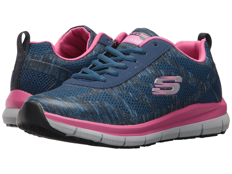 (スケッチャーズ) SKECHERS レディースワークシューズナースシューズ靴 Comfort Flex SR HC [並行輸入品] B07FRZTQ4Y 10 (27cm) B Medium|グレー/ピンク グレー/ピンク 10 (27cm) B Medium