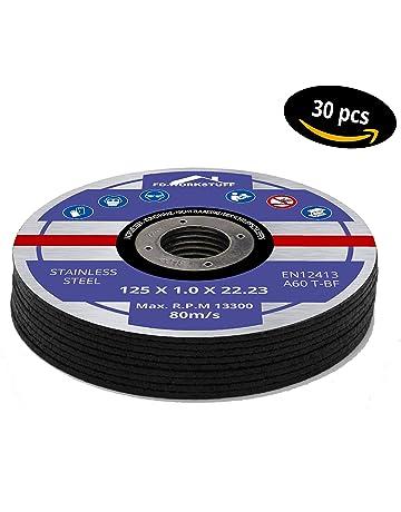 30 Discos de corte, Diámetro de 125 x 1,0 mm para amoladora angular