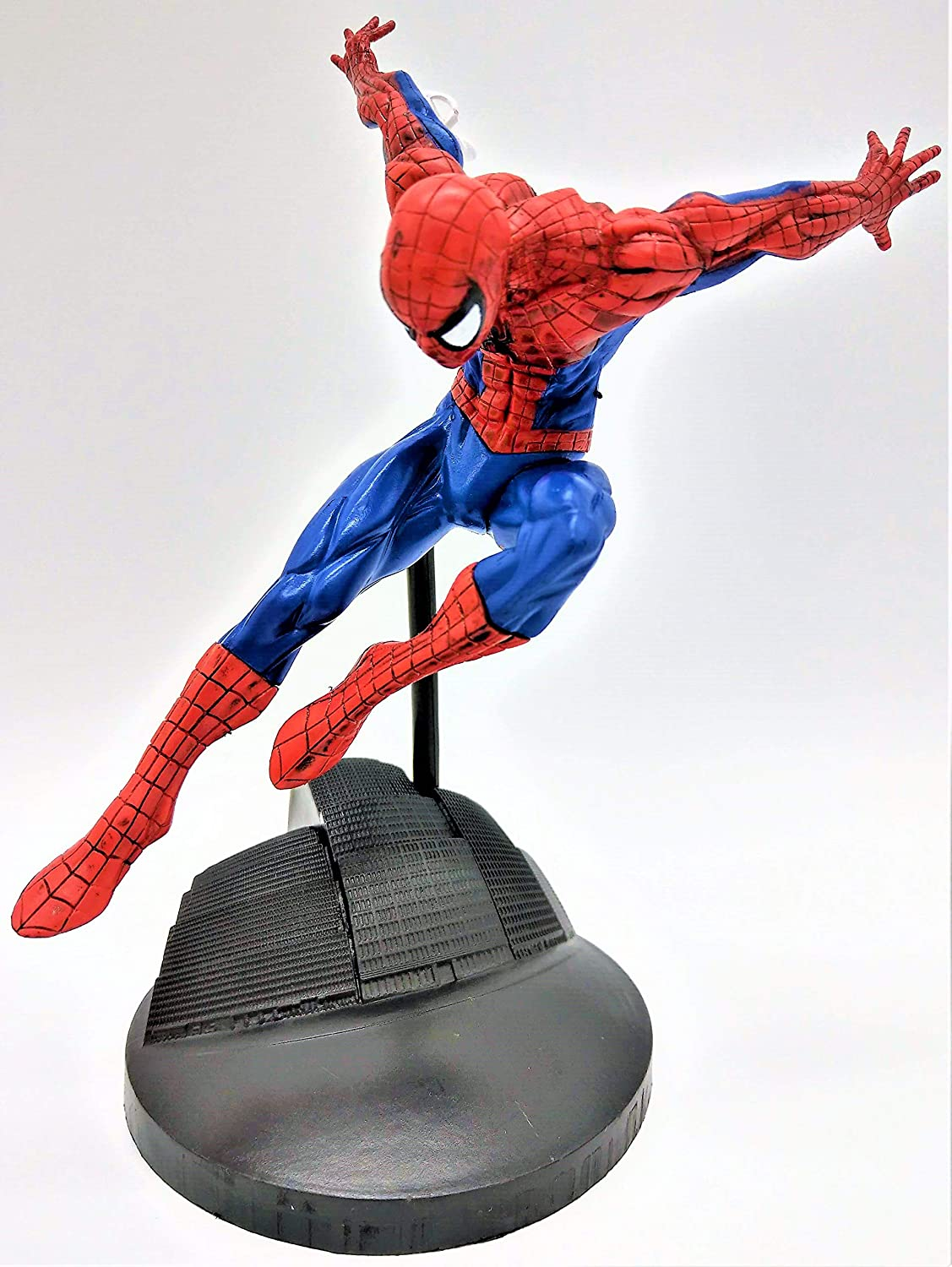 Amazing Flying Spiderman Action Figure with Web Shooter / Spider-Man into The Spiderverse Action Figure (Comes with a Stand)