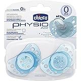 Chicco Sucette Physio Air Silicone Boîte Stérilisable X2 0M+ Bleu