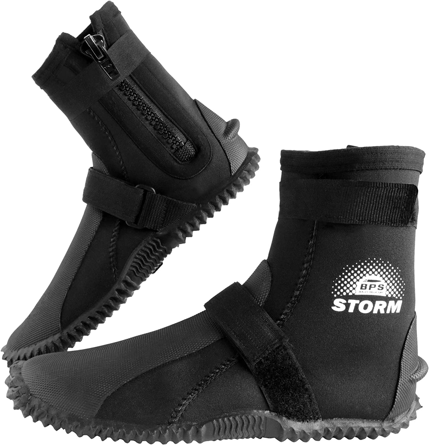 BPS 3mm Neoprene Watersports Dive Shoes with Rubberized Sole for Men and Women
