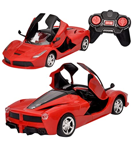 Toyshine Remote Control Car with Opening Doors Rechargeable Ferrari Design (Red) Cars & Trucks at amazon