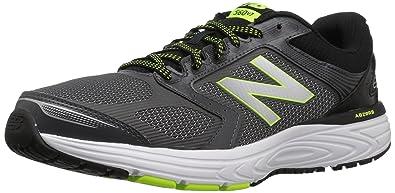 New Balance Men's 560v7 Cushioning Running Shoe, Grey/Yellow, ...