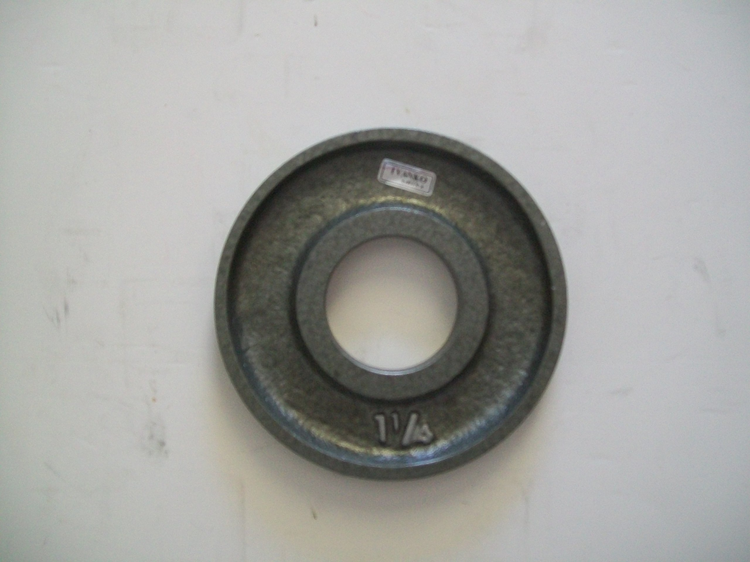 1 1/4 lb. Grey Machined Olympic Plates (Pair)