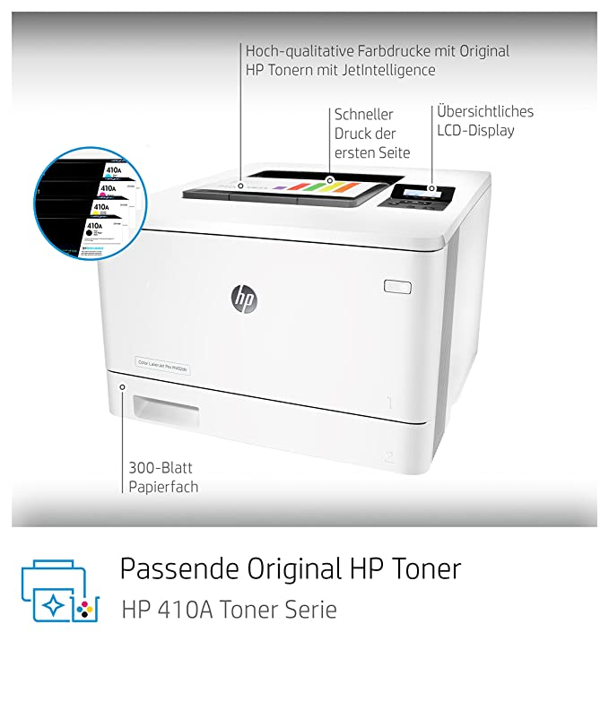 HP Color Laserjet Pro M452dn Farb-Laserdrucker: Amazon.de: Computer ...