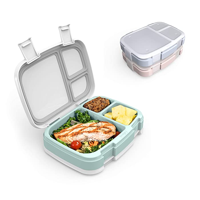 Bentgo Fresh 3-Meal Prep Pack - Versatile Compartment Lunch Box Set - Ideal for Meal Planning, Portion-Control, and Balanced Eating On-The-Go – BPA-Free, Microwave & Dishwasher Safe