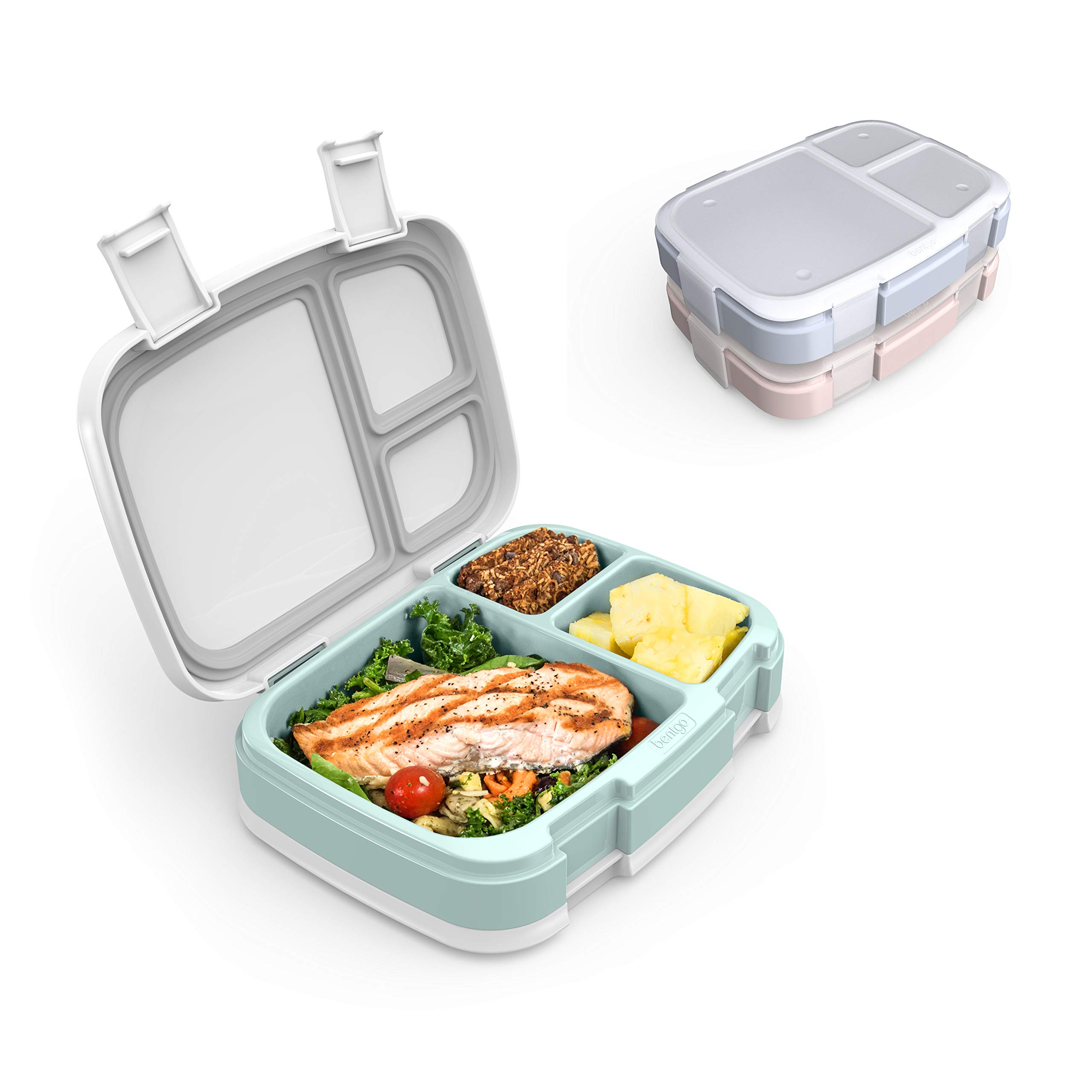 Bentgo Fresh 3-Meal Prep Pack - Versatile Compartment Lunch Box Set - Ideal for Meal Planning, Portion-Control, and Balanced Eating On-The-Go - BPA-Free, Microwave & Dishwasher Safe