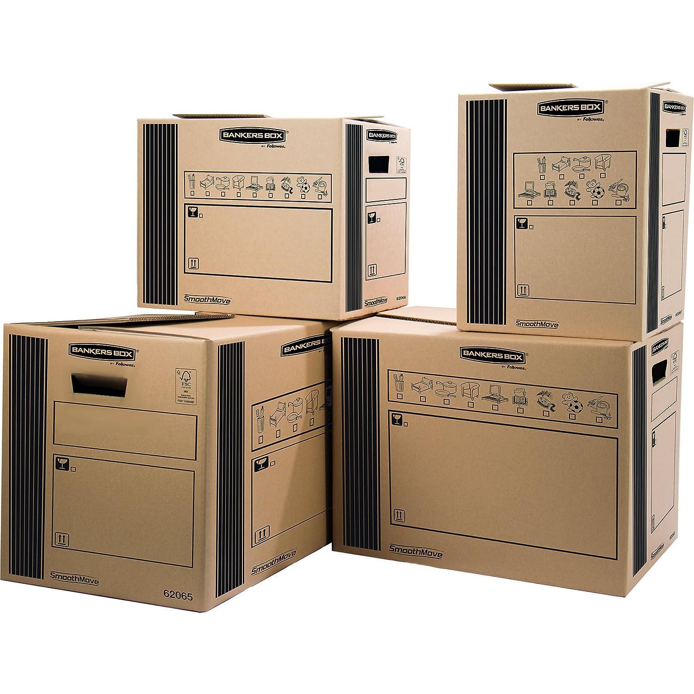 Bankers Box 6207002 - Caja de transporte y mudanza resistente, extra grande, 350 x 370 x 660 mm, 10 unidades: Amazon.es: Oficina y papelería
