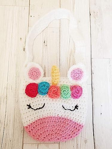 Crochet Unicorn Childrens Bag Amazon Handmade