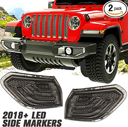 2 Pieces RilexAwhile Jeep Black Front Headlight Angry Bird Cover Click-in Bezels for 2007~2018 Jeep Wrangler /& Wrangler Unlimited JK