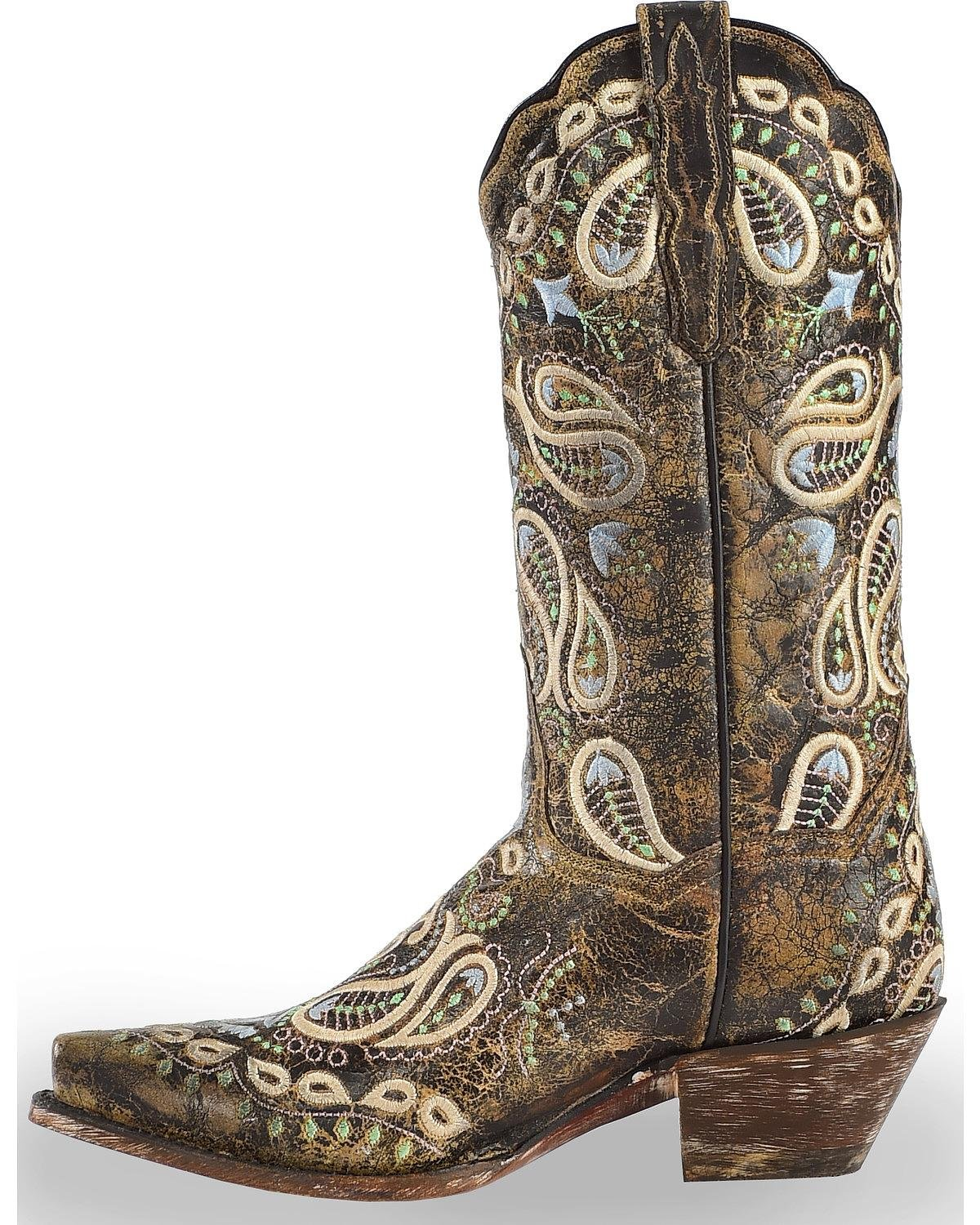 Dan Post Western Boots Womens Julissa Snip Chocolate DP4023 B075RFG1CD 9 B(M) US|Chocolate