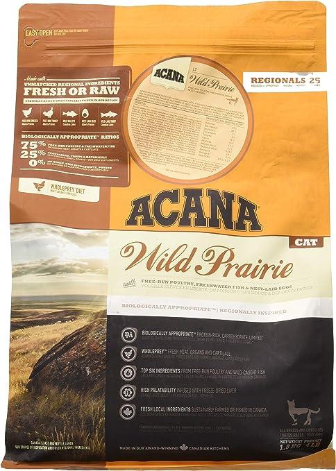 ACANA Wild Prairie Comida para Gatos - 1800 gr: Amazon.es ...