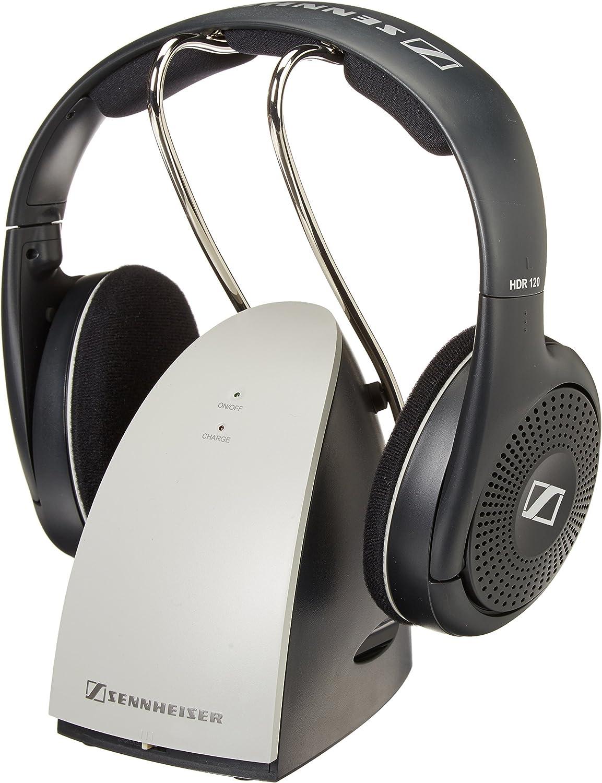 Sennheiser RS120 On-Ear Wireless RF Headphones with Charging Dock (Renewed)