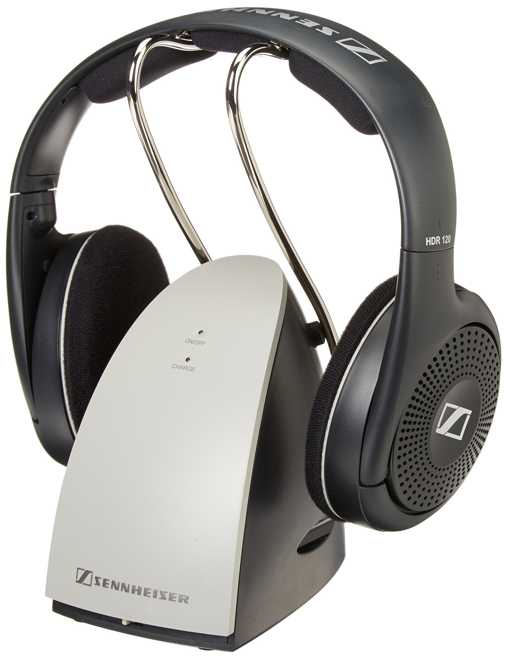 Sennheiser RS120 On-Ear Wireless RF Headphones with Charging Dock (Certified Refurbished) by Sennheiser