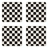 Ambesonne Checkers Game Coaster Set of 4, Checkered