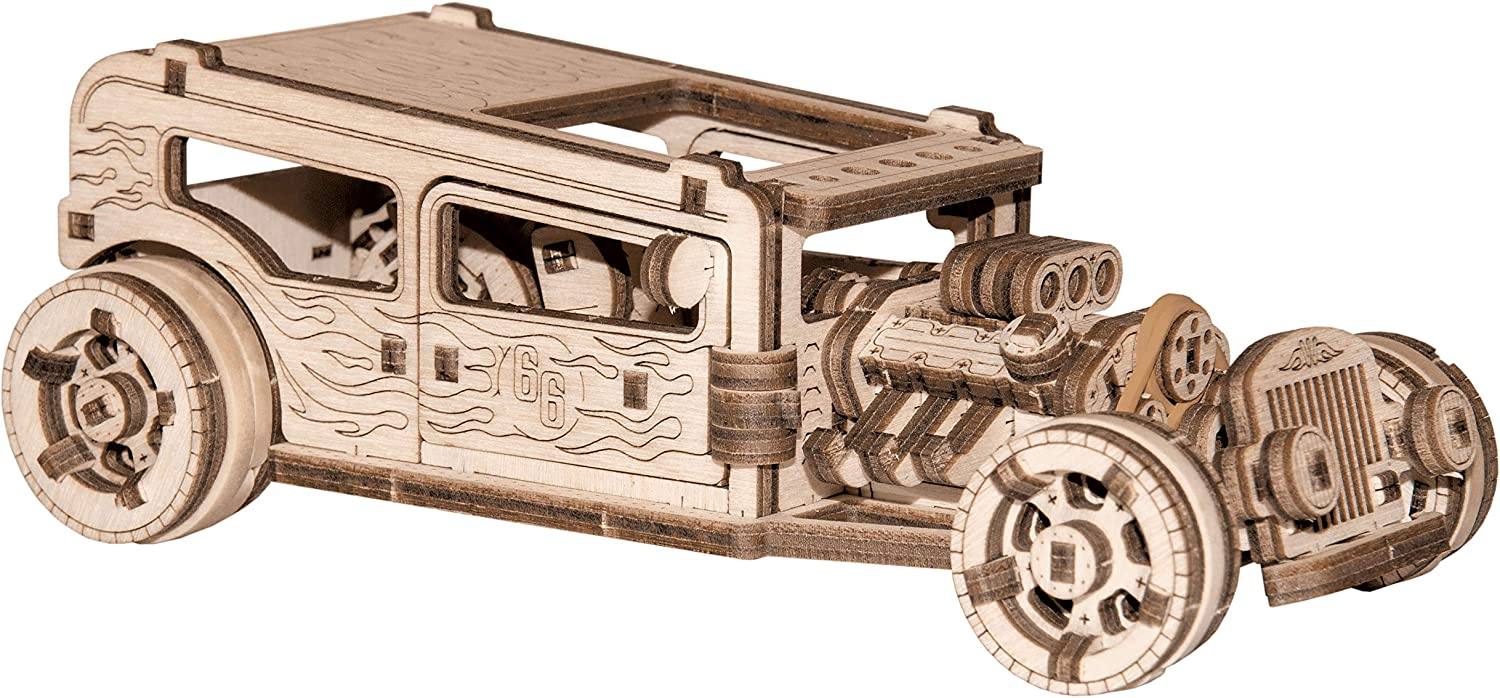 Hot Rod by Wooden.City | Wooden Mechanical Model of Legendary American Car | Best Gift for Everyone