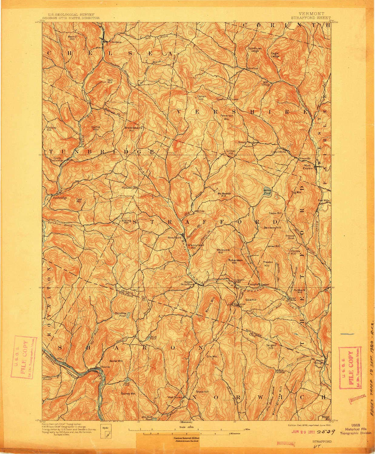 Amazon.com : YellowMaps Strafford VT topo map, 1:62500 Scale, 15 X ...