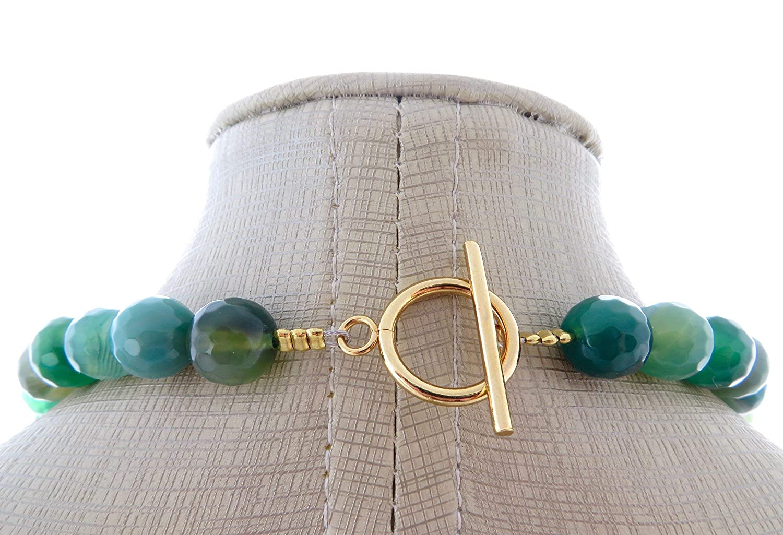 91dca2be13ce Collar de agata verde natural y prehnite