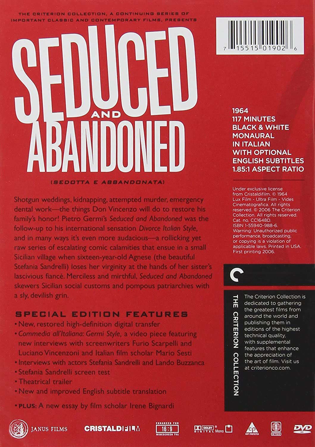 com seduced abandoned the criterion collection saro com seduced abandoned the criterion collection saro urzigrave stefania sandrelli aldo puglisi lando buzzanca lola braccini leopoldo trieste