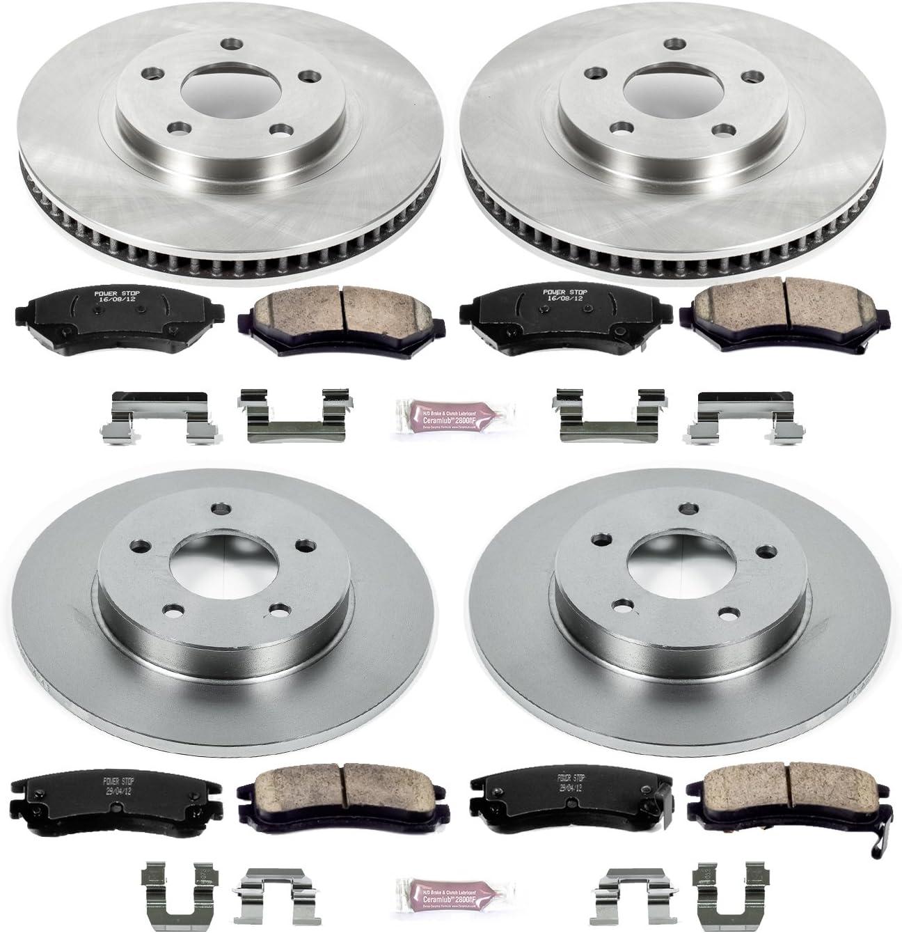 Rotors w//Ceramic Pads OE Brakes Rear LeSabre Park Avenue Bonneville