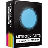 "Astrobrights Mega Collection, Colored Paper, ""Brilliant"" 5-Color Assortment, 625 Sheets, 24 lb/89 gsm, 8.5"" x 11 - MORE…"