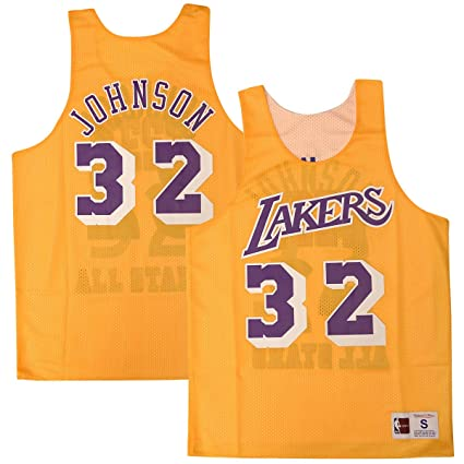 best sneakers 1dad8 82fbf Magic Johnson Lakers All Star 1983 Reversible Jersey