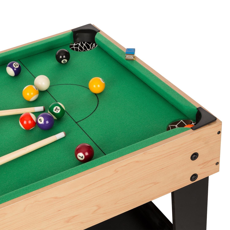 FIT4-Game-Star-15 105 x 71 x 58 cm lxhxp oneConcept Game-Star • table à jouer • table multifonction • 15 jeux différents • pieds réglables en hauteur • description complète des jeux • dimensions: env