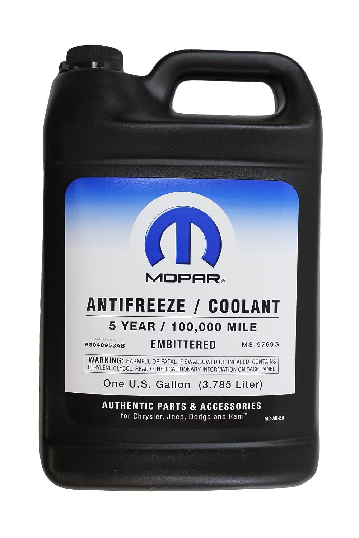 Amazon.com: Genuine Mopar Fluid 68048953AB Antifreeze/Coolant - 1 Gallon  Bottle: Automotive