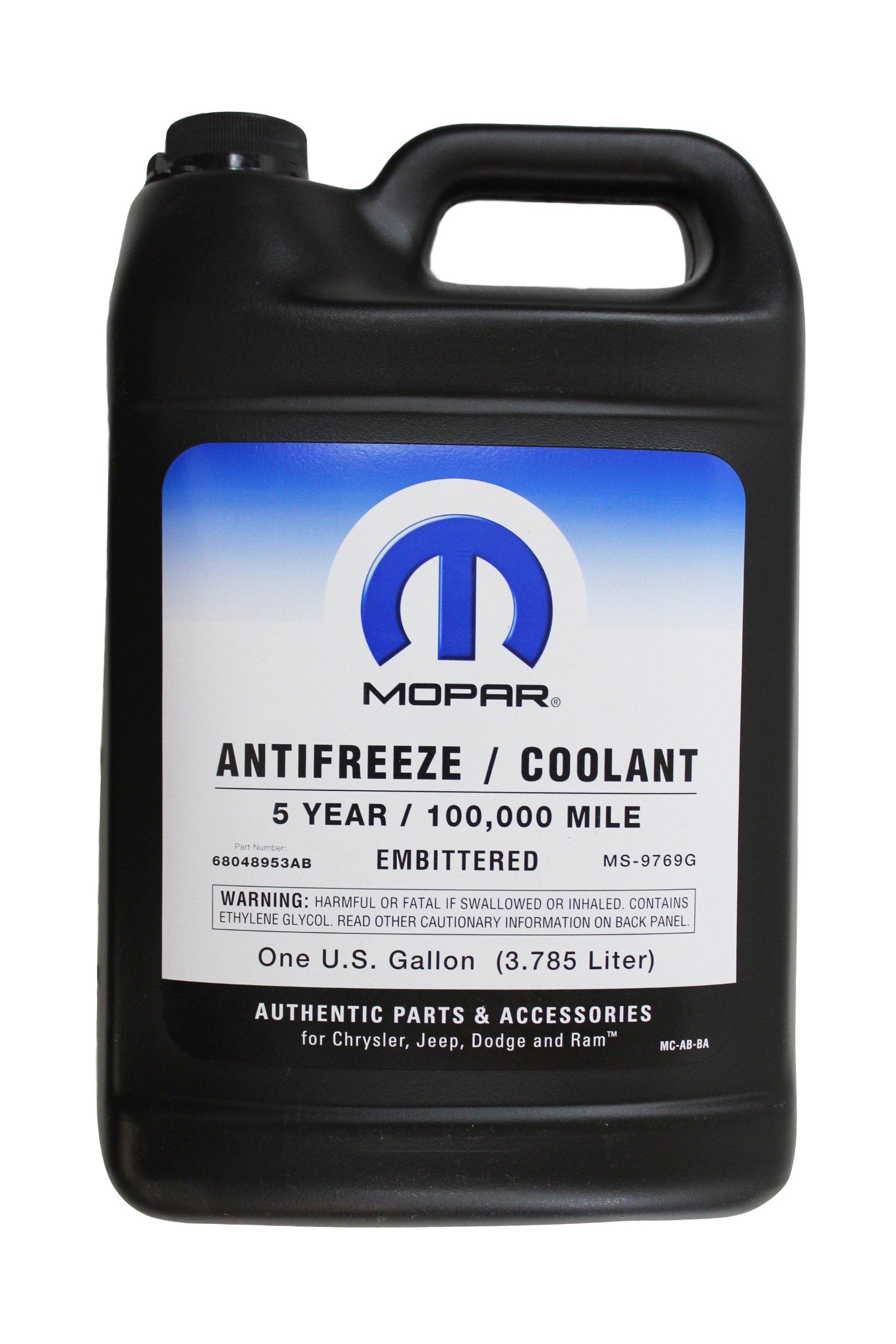 Genuine Mopar Fluid 68048953AB Antifreeze/Coolant - 1 Gallon Bottle by Genuine Mopar