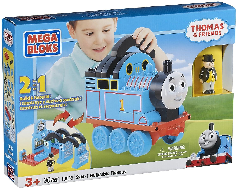 Amazon Mega Bloks 2 In 1 Buildable Thomas Toys Games
