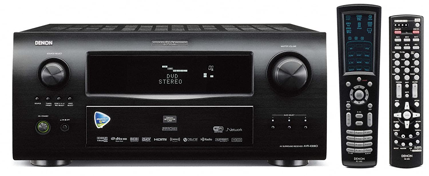 amazon com denon avr 4308ci multizone home theater receiver with rh amazon com Home Theater Receiver Wi-Fi Receiver Denon AVR -4308CI