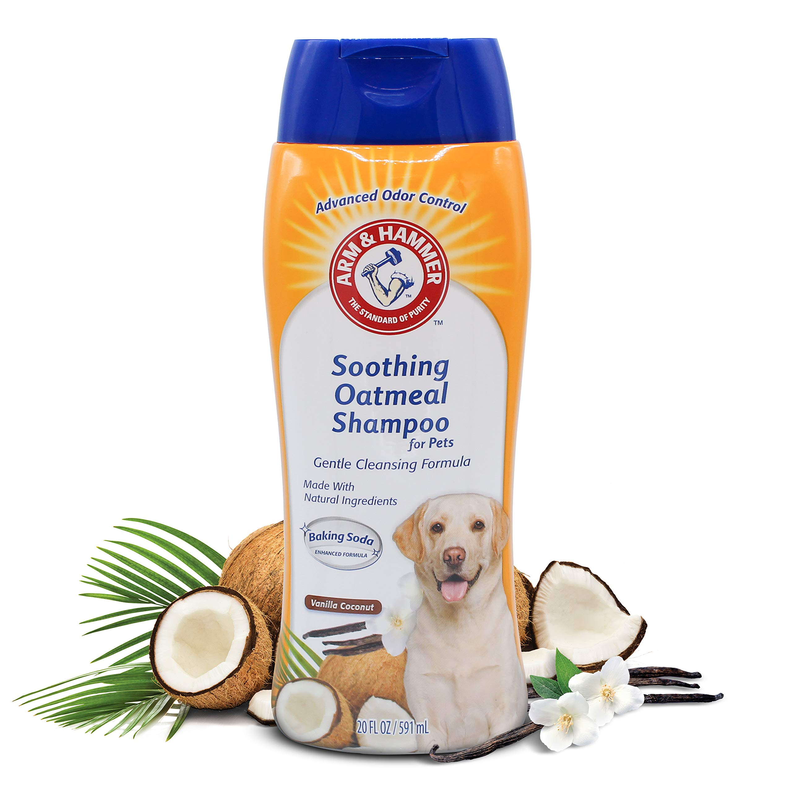 Arm & Hammer Oatmeal Shampoo for Dogs   Best Dog Shampoo for Dry Itchy Skin, Vanilla Coconut Scent, 16 oz
